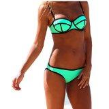Ebuddy Push up Bright Neoprene Bikini Set Swimsuit Swimwear