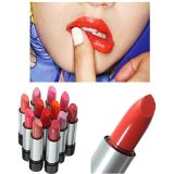 LuckyFine 12 Colors Moisturizin Long Lasting Bright Cosmetic Makeup Lipstick Lip Balm Nude Set