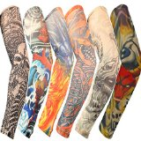 YESURPRISE 6pcs Fashion Temporary Fake Slip On Tattoo Sleeve Arm Set Kit