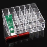 UZZO Clear Acrylic Trapezoid 24 Lattices Lipsticks Cosmetic Organizer/display/holder(4 Tiers)