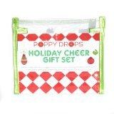 Little Girl's Holiday Cheer Gift Set - Poppy Drops Veggie Dye Tattoo Earrings & Tattoo Nail Art